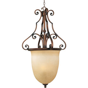 Weathered Copper La Scalla Three-Light Entry Hang
