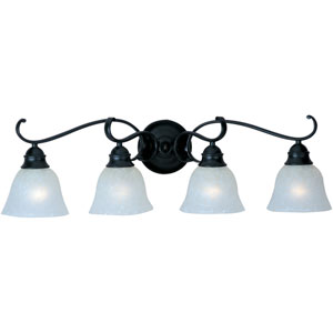 Linda Black Four-Light Bath Fixture