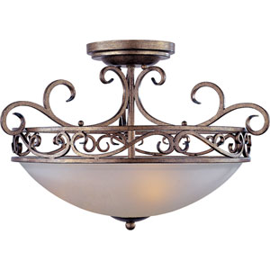 Hampton Auburn Dusk Three-Light Semi-Flush