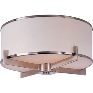 Nexus Satin Nickel Three-Light Flush Mount