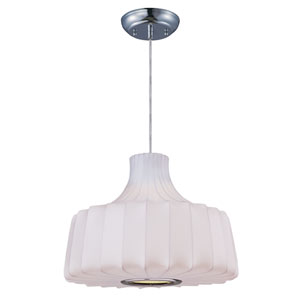 Cocoon Polished Chrome One-Light Fifteen-Inch Pendant