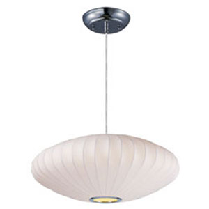 Cocoon Polished Chrome One-Light 25-Inch Pendant