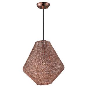 Twisp Copper One-Light Fifteen-Inch Pendant
