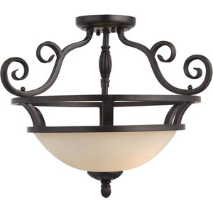 Manor Oil Rubbed Bronze Semi-Flush Ceiling Light