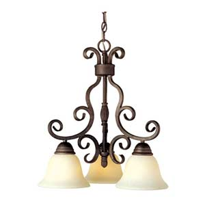Manor Oil Rubbed Bronze Three-Downlight Chandelier