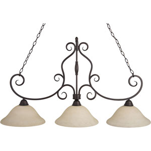 Manor Oil Rubbed Bronze Three-Light Island Pendant