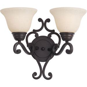 Manor Oil Rubbed Bronze Two-Light Bath Fixture