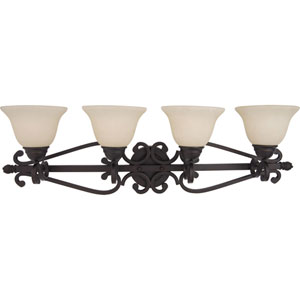 Manor Oil Rubbed Bronze Four-Light Bath Fixture