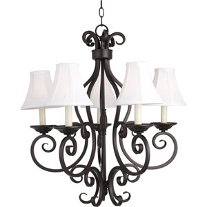 Manor Oil Rubbed Bronze Five-Light Chandelier