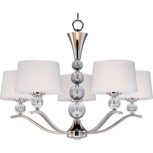 Rondo Polished Nickel Five-Light Chandelier