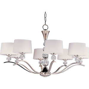 Rondo Polished Nickel Eight-Light Chandelier