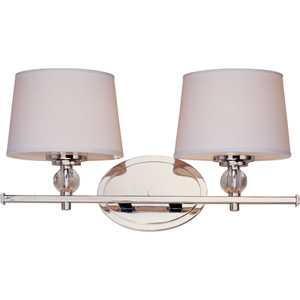 Rondo Polished Nickel Two-Light Bath Fixture