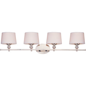 Rondo Polished Nickel Four-Light Bath Fixture