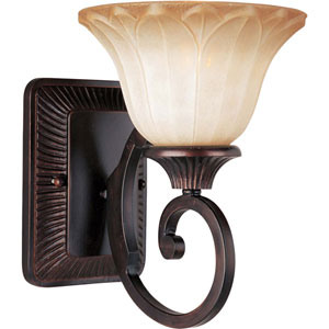 Allentown Oil Rubbed Bronze One-Light Sconce with Wilshire Glass