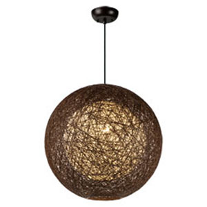 Bali Brown One-Light 19-Inch Pendant