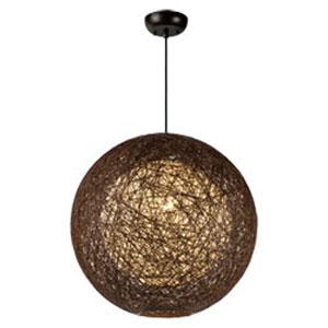Bali Brown One-Light 19-Inch Pendant