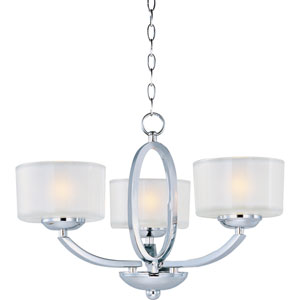 Elle Polished Chrome Three-Light Semi-Flush Mount/Chandelier