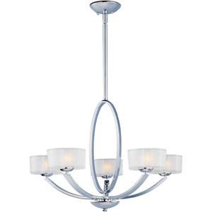 Elle Polished Chrome Five-Light Chandelier