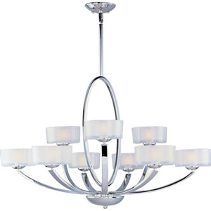 Elle Polished Chrome Nine-Light Chandelier