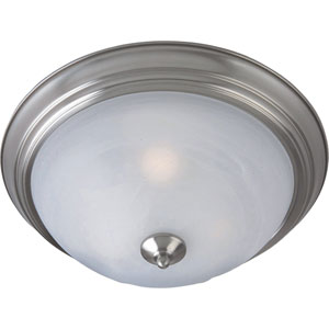 Outdoor Essentials Satin Nickel One-Light Outdoor Ceiling Mount
