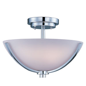 Rocco Polished Chrome Three-Light Semi-Flush Mount