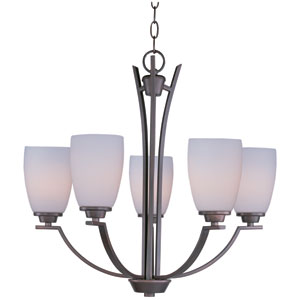 Rocco Oil Rubbed Bronze Five-Light Single-Tier Chandelier