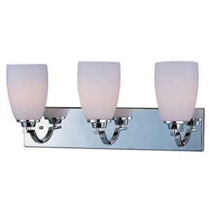 Rocco Polished Chrome Three-Light Bath Vanity