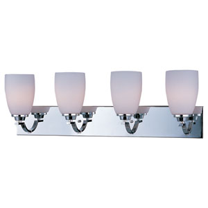 Rocco Polished Chrome Four-Light Bath Vanity