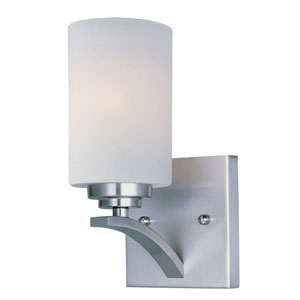 Deven Satin Nickel One-Light Wall Sconce