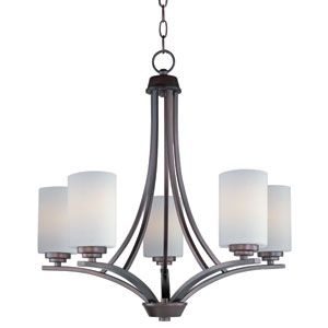 Deven Oil Rubbed Bronze Five-Light Single-Tier Chandelier
