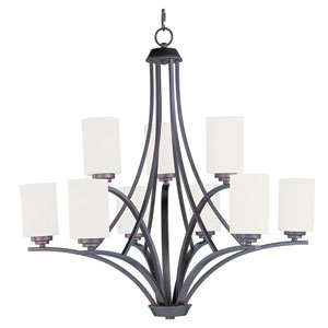 Deven Oil Rubbed Bronze Nine-Light Multi-Tier Chandelier