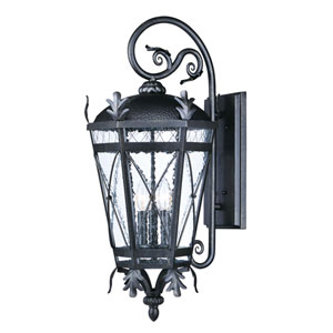 Canterbury DC Artesian Bronze 13-Inch Three-Light Outdoor Wall Mount