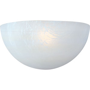 Essentials - 20585 White One-Light Wall Sconce with Marble Glass