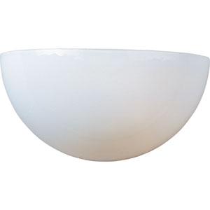 Essentials - 20585 White One-Light Wall Sconce with White Glass