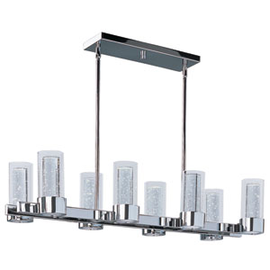 Sync Polished Chrome 16-Light LED Single-Tier Linear Chandelier
