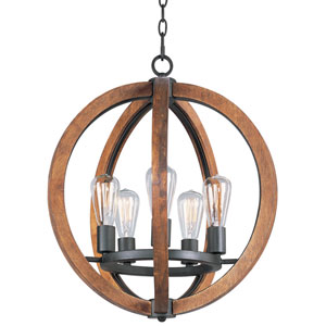 Bodega Bay Anthracite Five-Light Pendant