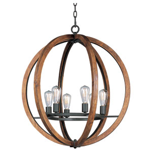 Bodega Bay Anthracite Six-Light Chandelier