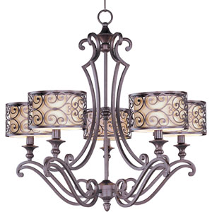 Mondrian Umber Bronze Five-Light Chandelier