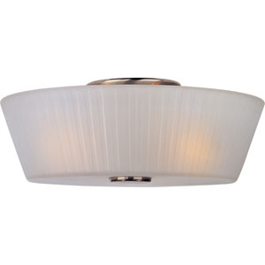 Finesse Satin Nickel Three-Light Flush Mount