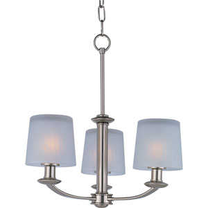Finesse Satin Nickel Three-Light Chandelier