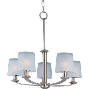 Finesse Satin Nickel Five-Light Chandelier