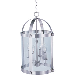Tara Satin Nickel Four-Light Entry Foyer Pendant