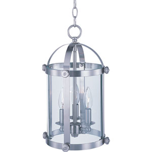 Tara Satin Nickel Three-Light Entry Foyer Pendant