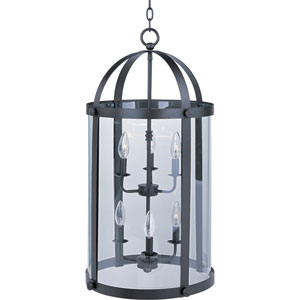 Tara Bronze Six-Light Entry Foyer Pendant