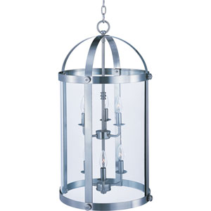Tara Satin Nickel Six-Light Entry Foyer Pendant