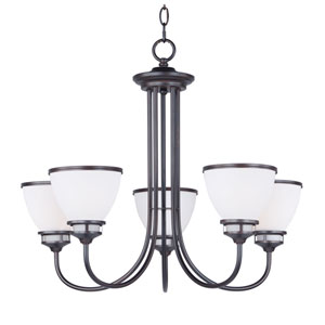 Novus Oil Rubbed Bronze Five-Light Chandelier