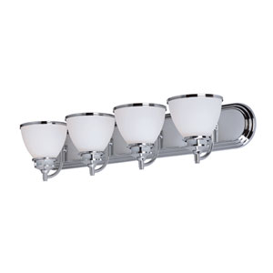 Novus Polished Chrome Four-Light Bath Vanity