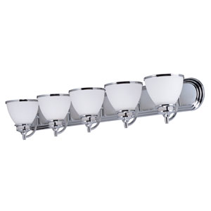 Novus Polished Chrome Five-Light Bath Vanity