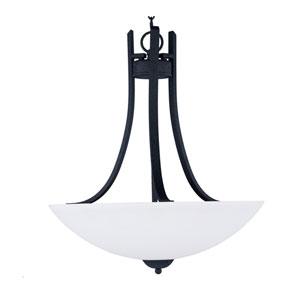 Taylor Textured Black Three-Light Pendant