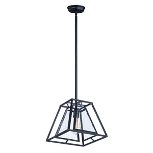 Era Black 12-Inch One-Light Pendant with Bulb